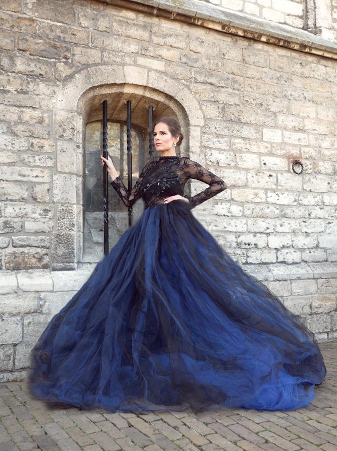 Jacomijn blauwe jurk in Gouda