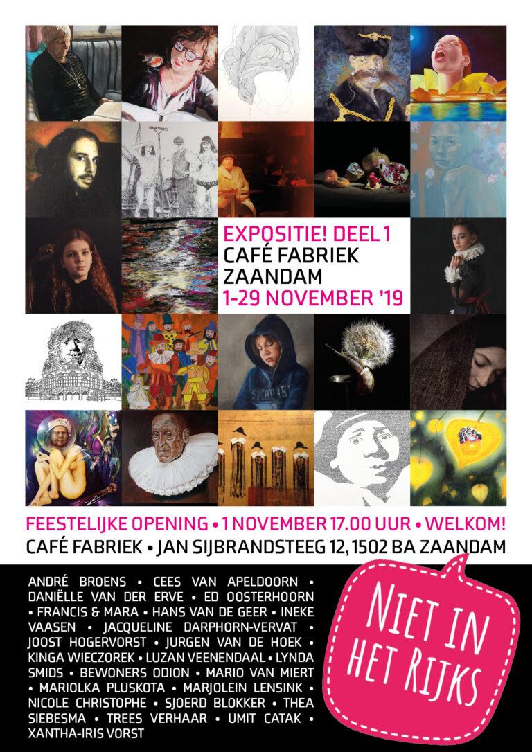 """Flyer expositie """"Niet in het Rijks"""" Zaandam"""
